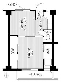 ビレッジハウス法善寺[2-208号室]の間取り