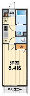 東京都八王子市高倉町の賃貸マンションの間取り
