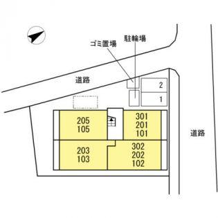 メゾンドフルール[2階]の外観