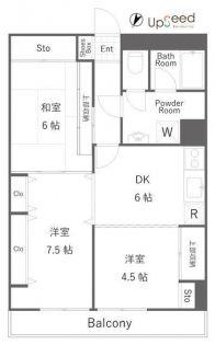 八王子スカイマンション[3階]の間取り