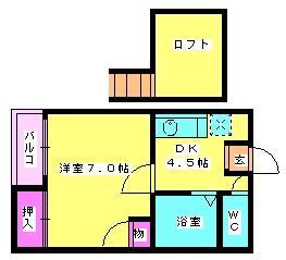 ドリームヒルズ井尻  2階の賃貸【福岡県 / 福岡市南区】