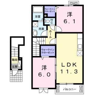 グランツ・ハウスⅢ[2階]