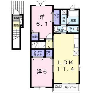 エクセレント・ベル B[2階]