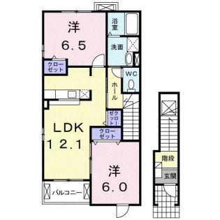 クルーセA[2階]