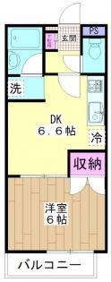 パークビュー[2階]の間取り