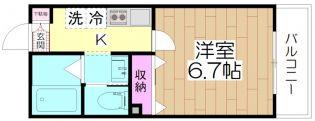 GLAD西新井[2階]の間取り