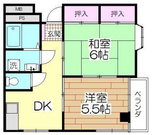 ネット第78ビル[3階]の間取り