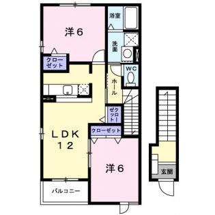 プラシード・カーサ B[2階]の間取り