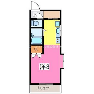 カージェ九品寺[5階]の間取り