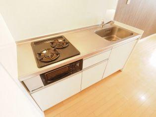 ドルチェヴィータ新神戸のコンパクトなキッチンで掃除もラクラク