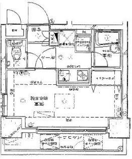 グランフォース早稲田[3F号室]の間取り