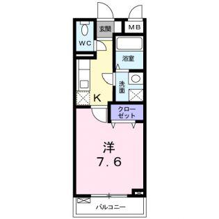 東京都北区中十条4丁目の賃貸アパートの間取り