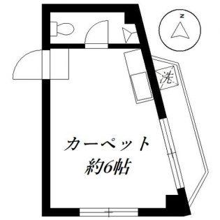 西田ビル[304号室]の間取り