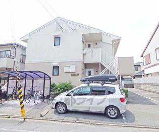 京都府京都市北区紫竹上緑町の賃貸アパートの画像