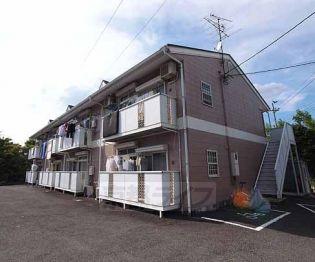 京都府八幡市美濃山宮道の賃貸アパートの外観