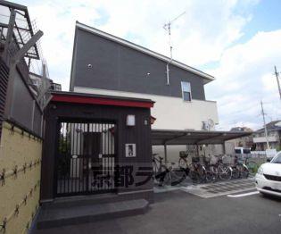 京都府長岡京市井ノ内上印田の賃貸アパートの外観