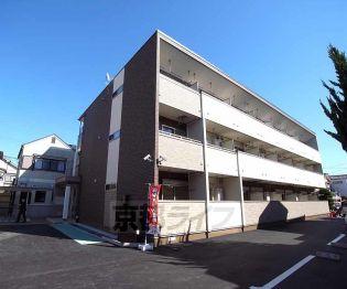 京都府長岡京市神足麦生の賃貸アパートの外観