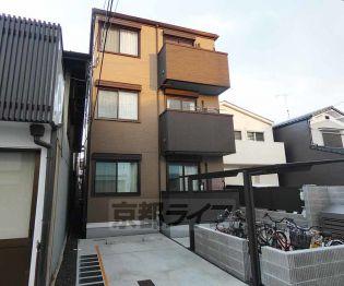 京都府京都市伏見区上神泉苑町の賃貸アパートの外観