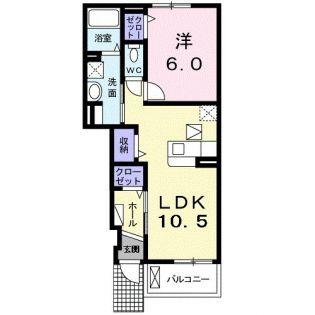兵庫県神戸市北区緑町3丁目の賃貸アパートの間取り