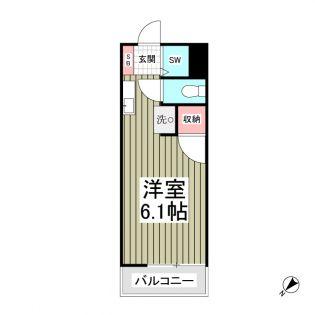 東京都国分寺市東恋ヶ窪4丁目の賃貸アパートの間取り