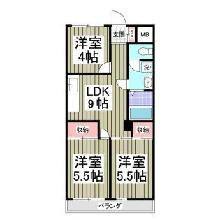 堀江ビル[1階]の間取り