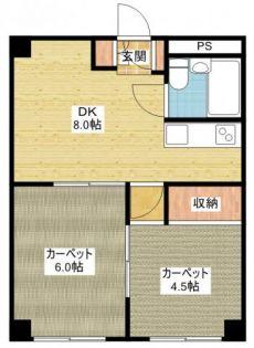 チサンマンション第1名古屋[11階]の間取り