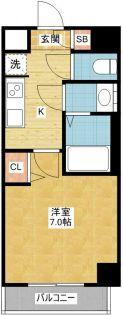クラシタイヤー新栄[5階]の間取り