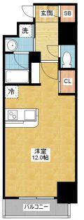 愛知県名古屋市中川区八熊1丁目の賃貸マンションの間取り