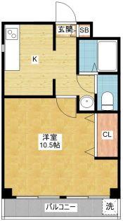 第72プロスパービル[8階]の間取り