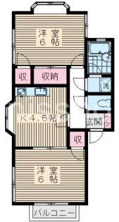 3474−テラス増田[1号室]の間取り