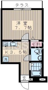 7217−アリーチェ鷺宮[102号室]の間取り
