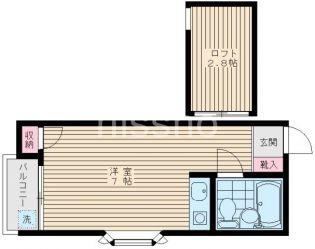 808−ソレイユ白鷺[205号室]の間取り