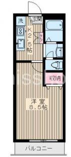 7680−エスポワール赤塚[104号室]の間取り