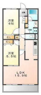 甲子園三番町ハイツ[5階]の間取り