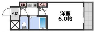 大阪府大阪市旭区高殿7丁目の賃貸マンションの間取り
