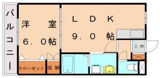 東郷ハイツ[1階]の間取り