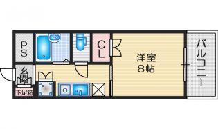 ラファイン江坂[3階]の間取り