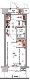 ハーモニーレジデンス東京アーバンスクエア#002[6階]の間取り