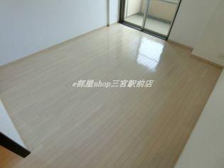 エスライズ新神戸のコンパクトで使いやすい洋室です