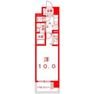 神奈川県藤沢市弥勒寺1丁目の賃貸マンションの間取り