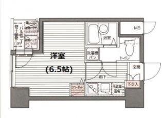 ガラ・シティ京橋[3F号室]の間取り