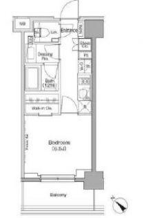 ザ・パークハビオ月島フロント[2階]の間取り