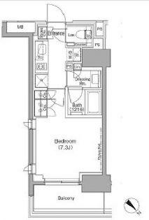 ザ・パークハビオ月島フロント[10階]の間取り