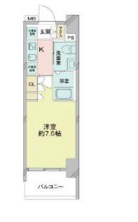 アゼストお花茶屋Ⅱ[7階]の間取り