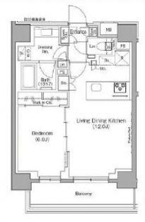 ザ・パークハビオ月島フロント[5階]の間取り