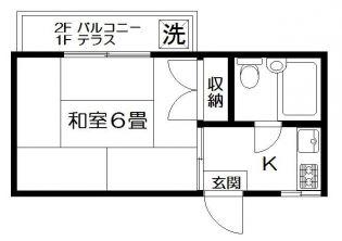 フラット東武練馬[203号室]の間取り