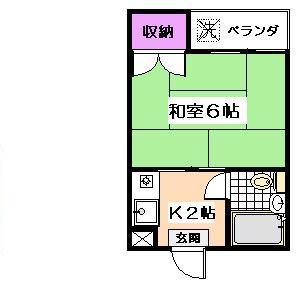フラット桜台[402号室]の間取り