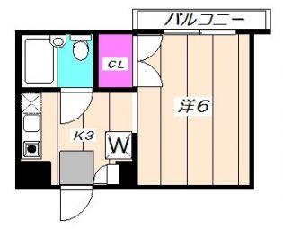 栗山プチシャトーI[302号室]の間取り