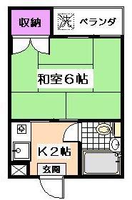フラット桜台[203号室]の間取り