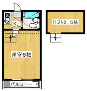ニイナコーポ[1階]の間取り